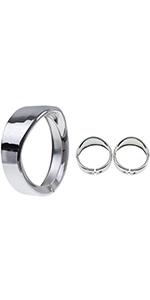 "7 inch Headlight Trim Ring 4 1/2"" Fog Light Trim Ring"