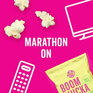 Marathon on with these bags of Angie's BOOMCHICKAPOP Kettle Corn