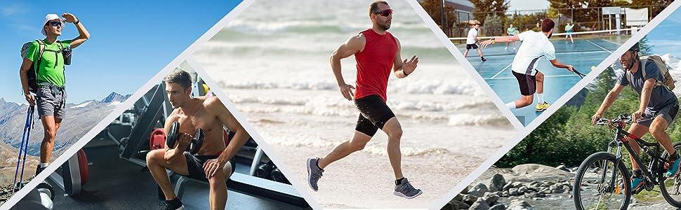 mens athletic gym shorts elastic waist