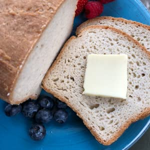 Artisan Multigrain Bread Sliced with Butter