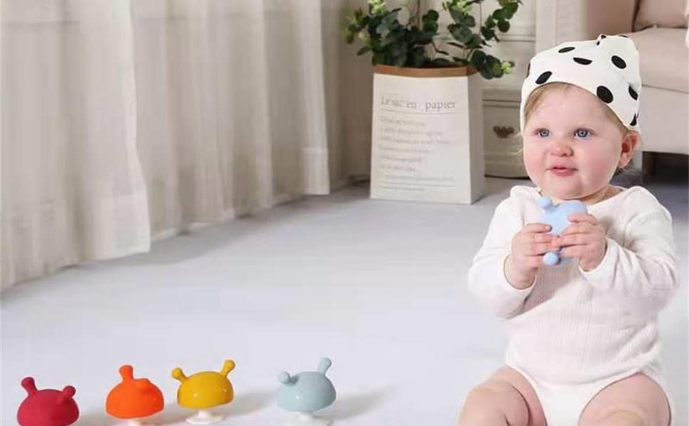 Adorable mimi mushroom soothing teether toys