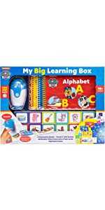 PAW Patrol Big Learning Box - Touch & Talk Reader with 3 Books, 48 Flashcards