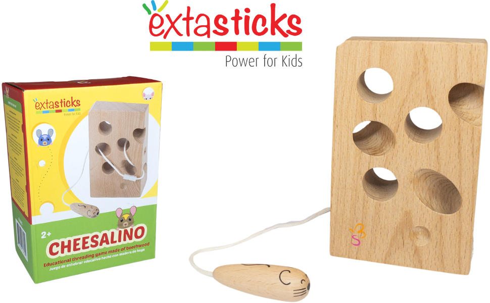 wooden cheese cheesalino extasticks lacing toy travel activity kids toddler car airplane traveling