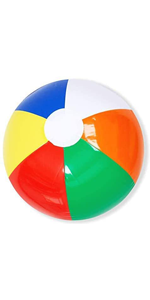 "12"" Rainbow Beach Balls (12 Pack)"