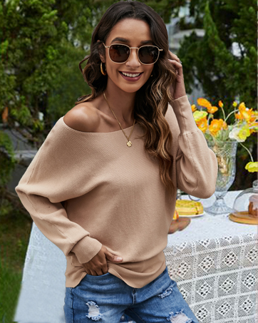 off shoulder sweaters for women