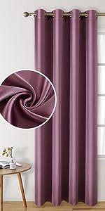 HOMEIDEAS Faux Silk Blackout Curtains