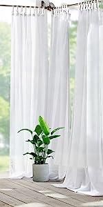 outdoor sheer curtain