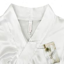 Bridal Robe, Bride Robe, Wedding Day Robe, White Satin Robe