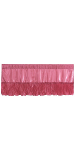 pink satin window valance