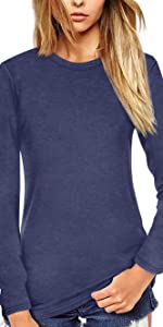 Rundhals Shirt Kurzarm/Langarm T-Shirt