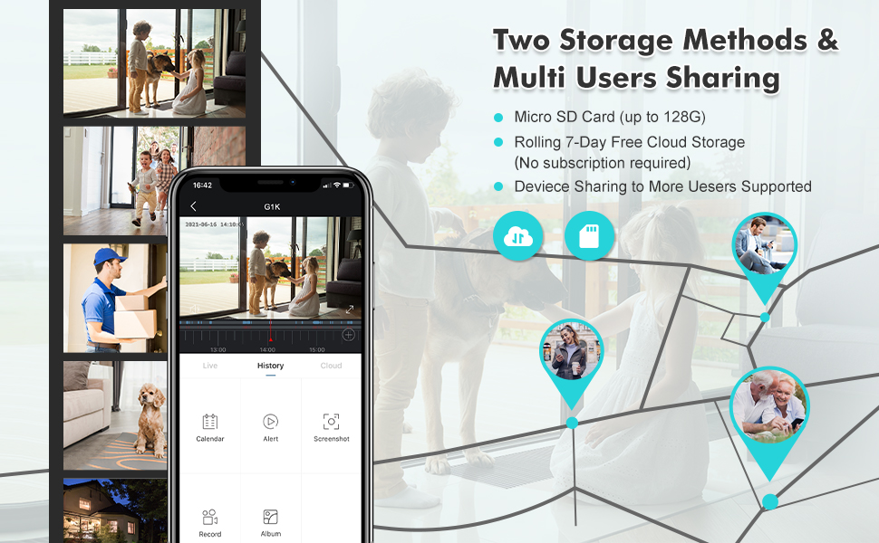 Free Rolling 7-day Cloud Storage