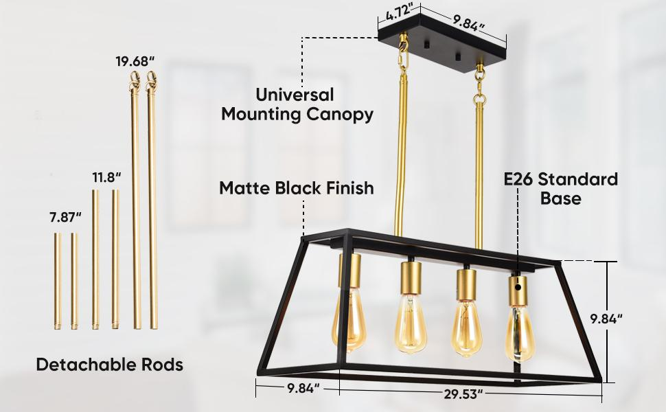 shine decor kitchen island chandelier
