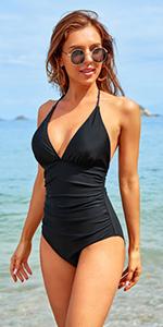 Plunge V Neck Swimsuits