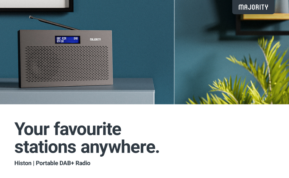 Majority Histon Portable DAB+ Radio