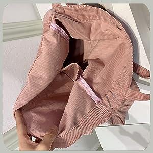 Canvas Tasche Damen Stofftasche Shopper Groß Cord Tote Bag Fashion Schultertasche Leicht Schule