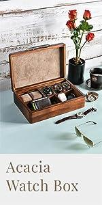 Acacia Watch Box