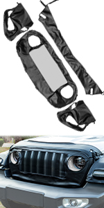 Front End Grille Hood Bra Covers Protector for Jeep Wrangler JL JLU JT