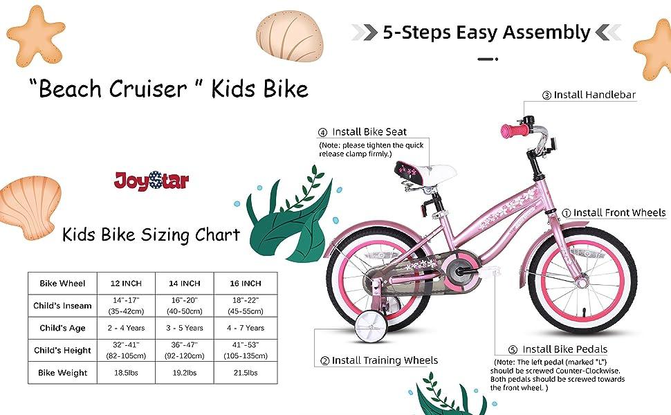 bike sizing chart for kids bike