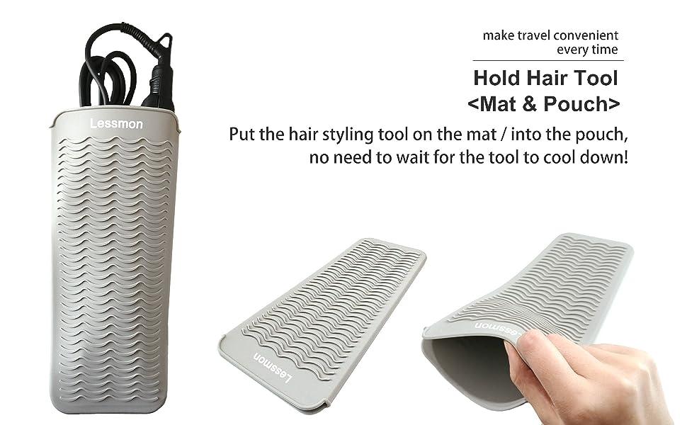 curling iron mat pad