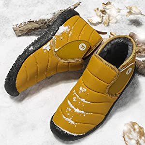 yellow snow boots