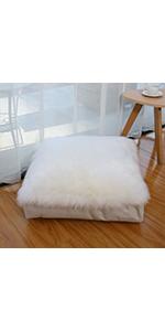 square sheepskin floor pillow