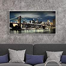 Canvas wall art with frame
