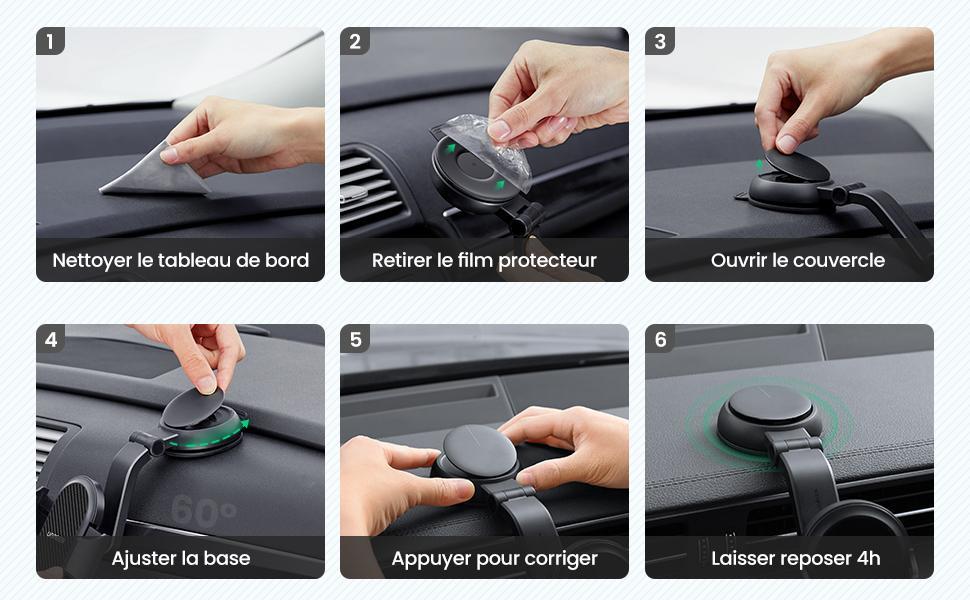 support téléphone voiture sur tableau de bord