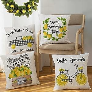 summer throw pillow covers 18 x 18