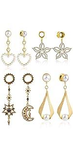 Ear Tunnels Plug Dangle Gauges Body Piercing Jewelry