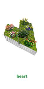 diy triangle raised garden bed