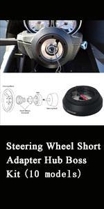 Kyostar Black Aluminum Steering Wheel Short Hub Adapter Quick Release Boss Kit