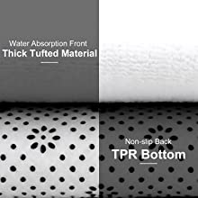 Thick Tufted Material,TPR Bottom