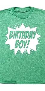Happy Family Clothing Superhero Birthday Boy Party T-Shirt