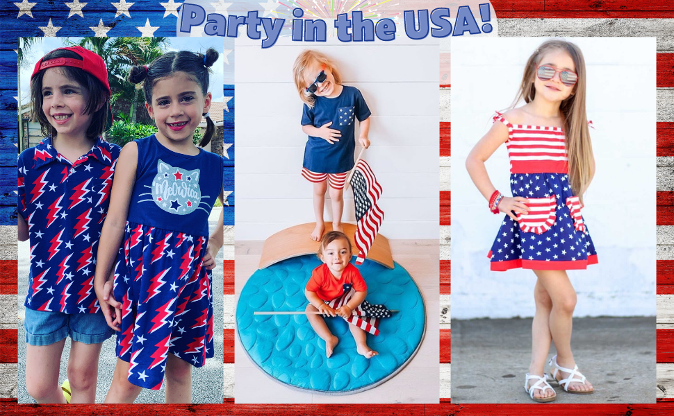 Unique Baby 4th of July Girl Dresses