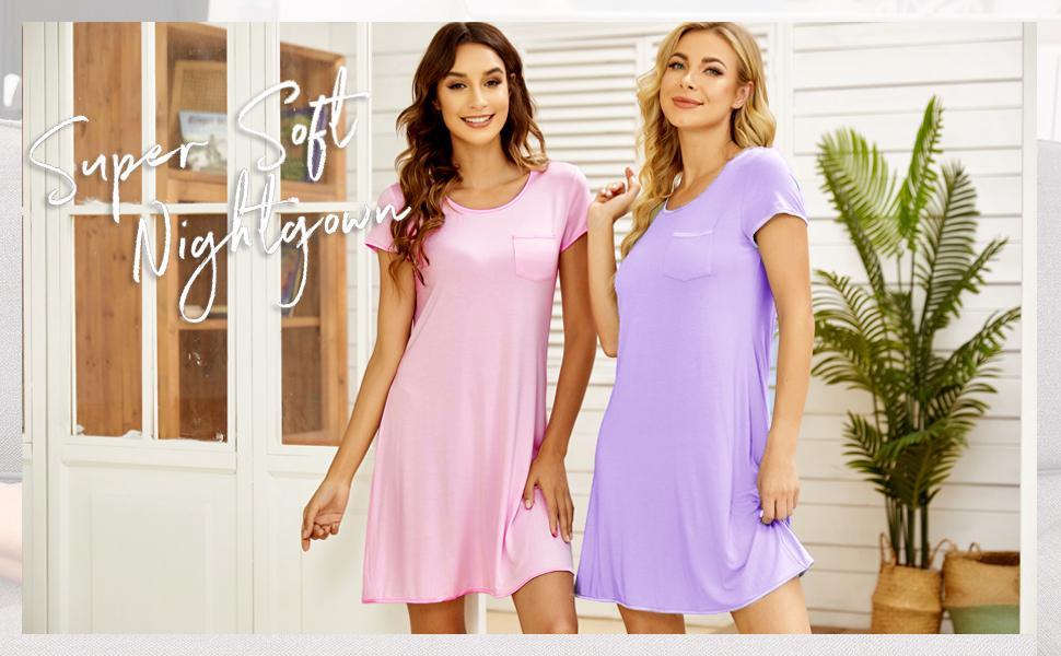 women nightshirt soft cotton nightgown