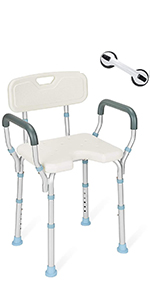 Shower Chair with Arms and Back