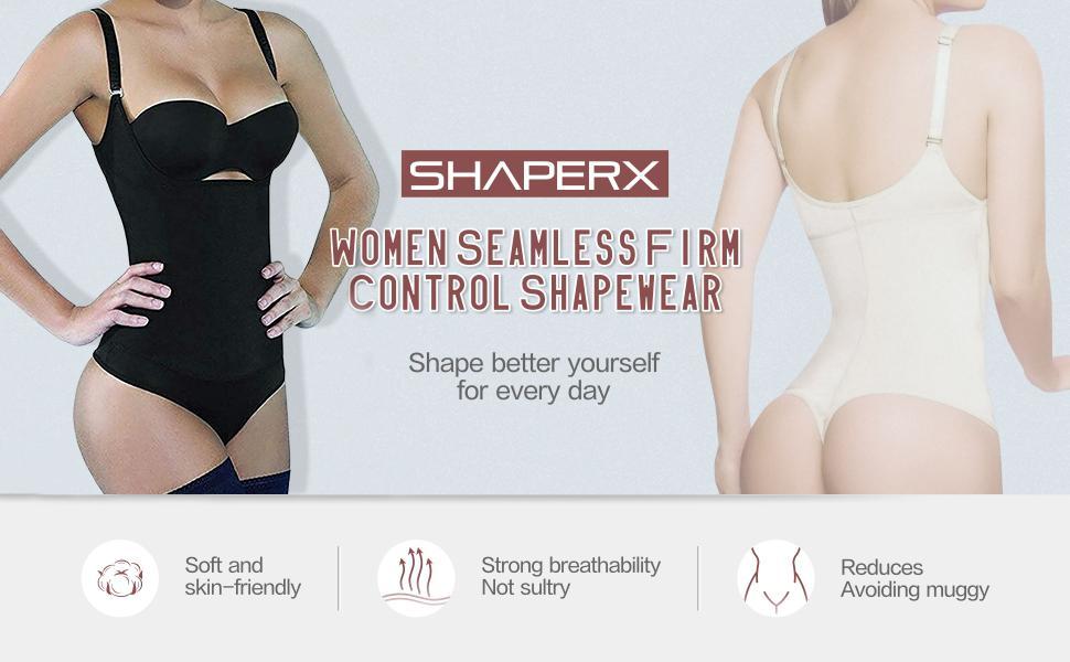 Mujer Bodysuit Waist Trainer GELing Mujer Body Shaper Abdomen Busto Abierto Cors/é Adelgazante Cintura Moldeadora Busto Abierto Levanta Gl/úteos Shapewear con Cremallera