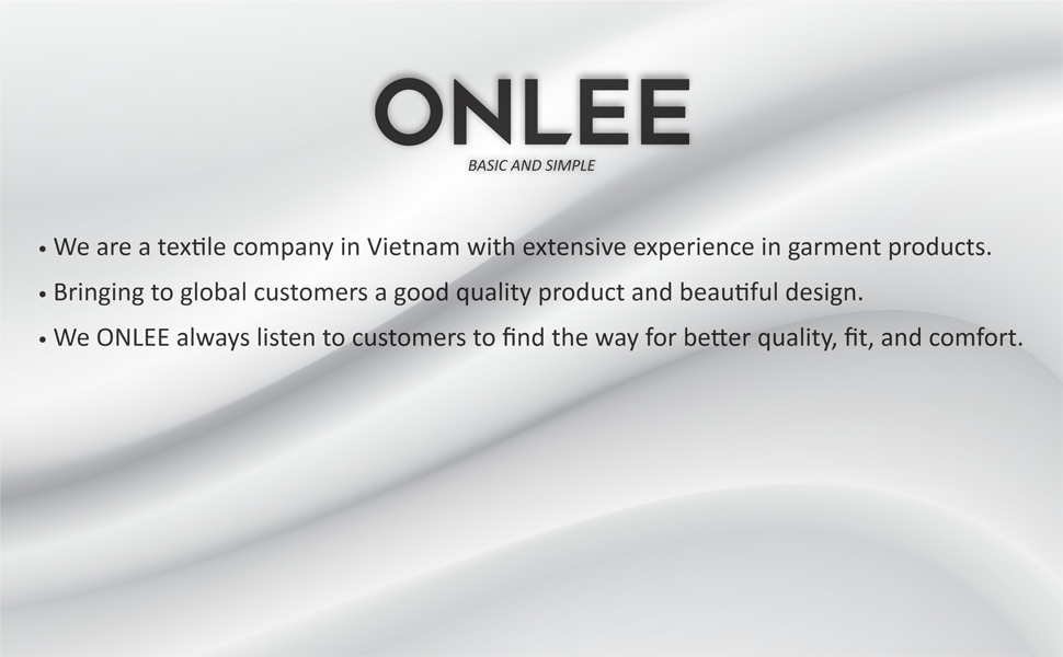 ONLEE is a fashion brand that supplies basic items, good-quality products at affordable prices.
