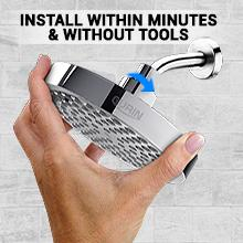 Gurin Products Easy to install without tools shower head replacement