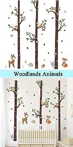 woodlands wall stickers baby nursery decor kids room