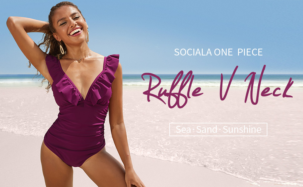 ruffle swimsuits women
