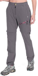 zip off pants grey