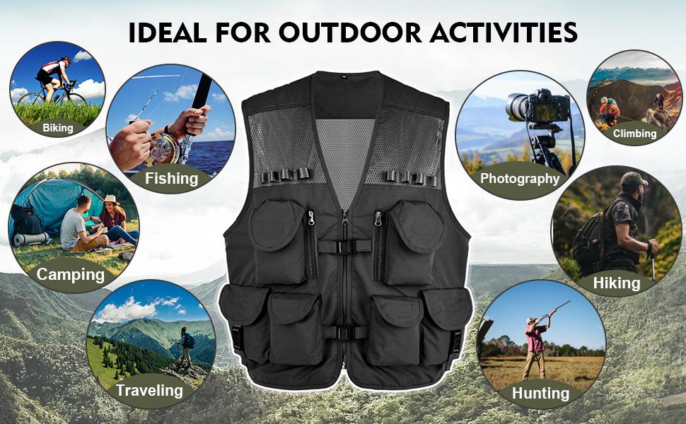 Multi-functional fishing vest