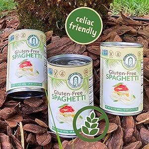 Celiac Friendly Spaghetti cans