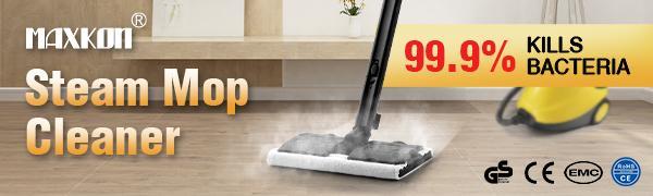 Maxkon 2.1L High Pressure Carpet Floor Window Steam Cleaner w/Indicator Light