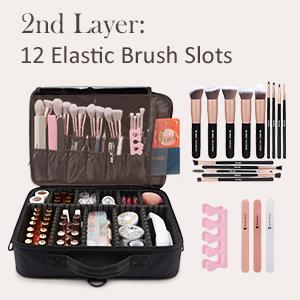 2 layers makeup case