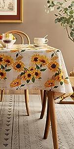 Joyfol Day Sunflower Tablecloth