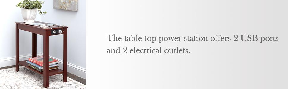 Side Table Power Station Office Outlets Modern living rooms minimal design shelves for storage