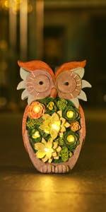 owl lights solar light garden decor outdoor jardin