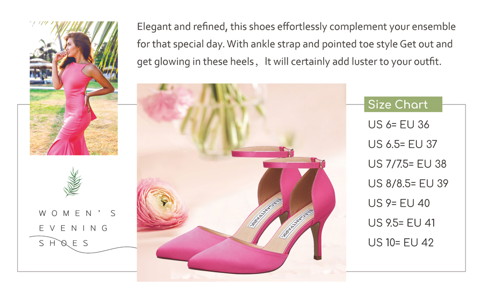 Details about  /Women High Heel Wedding Bridal Slip On Pointy Toe Stud Pink Court Shoes 44//46 L